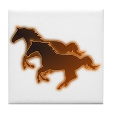 Two Horses Tile Coaster