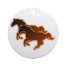 Two Horses Ornament (Round)