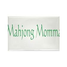 Mahjong Momma Rectangle Magnet