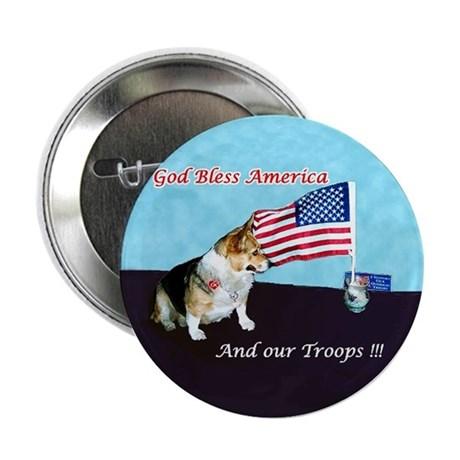 "God Bless America-Support Tro 2.25"" Button (1"