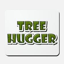 Tree Hugger : Green Leaf Mousepad
