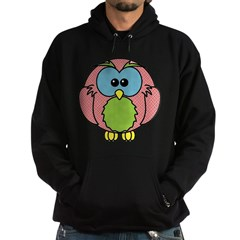 Pink Dotty Owl Hoodie