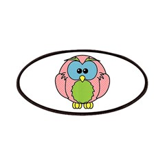 Pink Dotty Owl Patches