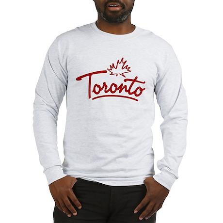 Toronto Leaf Script Long Sleeve T-Shirt
