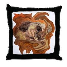 Abstract Digital Face Art Throw Pillow
