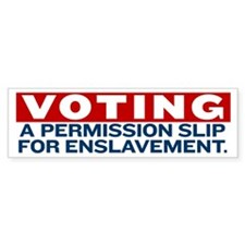 Anti-Voting Bumper Sticker