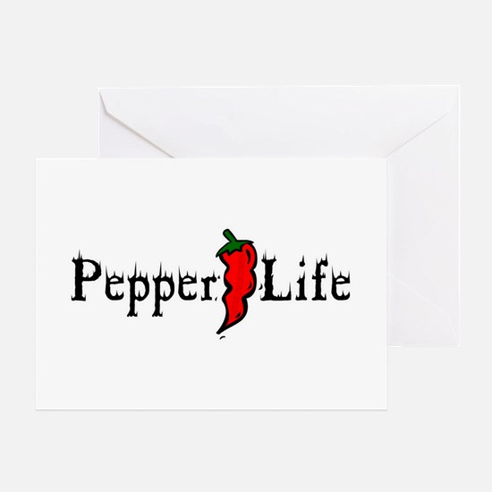 Pepper Life Greeting Card