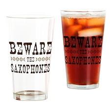 Beware the Saxophones Pint Glass