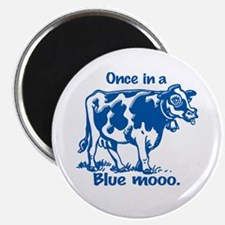 Once in a Blue moo Cow Magnet