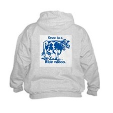Once in a Blue moo Cow Hoodie