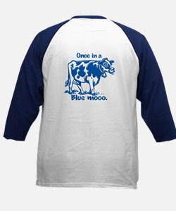 Once in a Blue moo Cow Kids Baseball Jersey