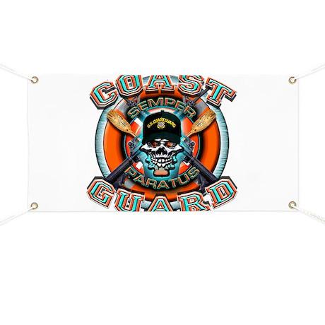 US Coast Guard Skull M-4s Banner