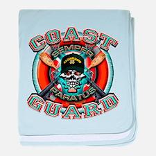 US Coast Guard Skull M-4s baby blanket