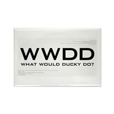 What Would Ducky Do? Rectangle Magnet
