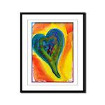 Bright Valentine Framed Panel Print