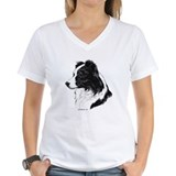 Border collie shirts Womens V-Neck T-shirts