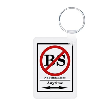 No BS Anytime Aluminum Photo Keychain