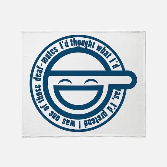 Cute Laughing man Throw Blanket