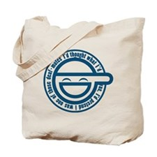 Cute Laughing man Tote Bag
