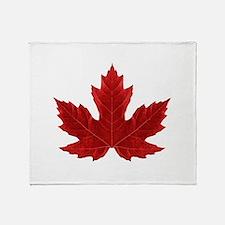 Canadian Maple Leaf Throw Blanket
