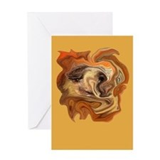 Abstract Face Digital Art Greeting Card