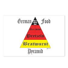 German Food Pyramid Postcards (Package of 8)