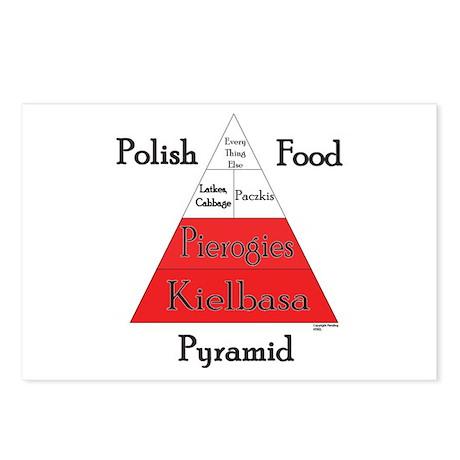 Polish Food Pyramid Postcards (Package of 8)