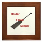 Dragon Boat Paddlers Framed Tile