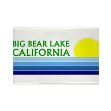 Unique Big bear lake Rectangle Magnet