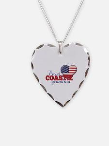 Proud Coast Guard Grandma - Necklace