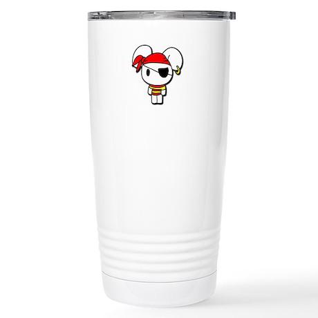 Pirate Bunny Stainless Steel Travel Mug