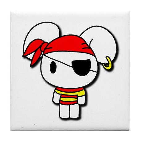 Pirate Bunny Tile Coaster