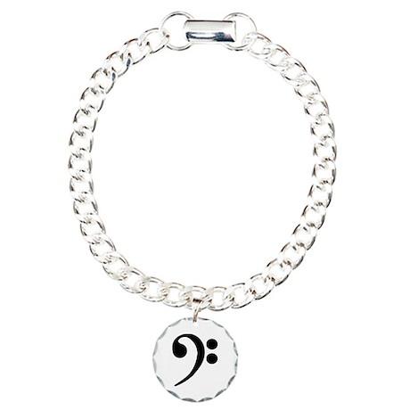Bass Clef Symbol Charm Bracelet, One Charm