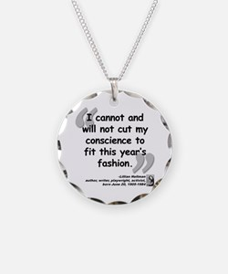 Hellman Fashion Quote Necklace