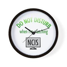 Do Not Disturb Watching NCIS Wall Clock