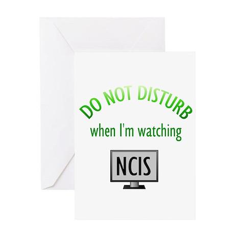 Do Not Disturb Watching NCIS Greeting Card