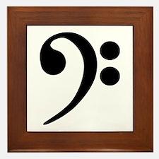Bass Clef Symbol Framed Tile
