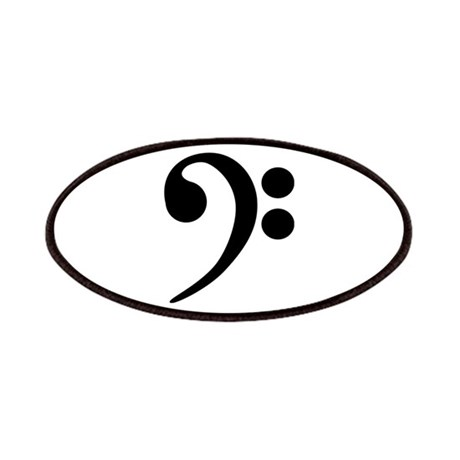 Bass Clef Symbol Patches