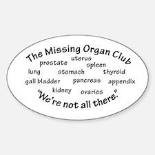 Cute Uterus Sticker (Oval)