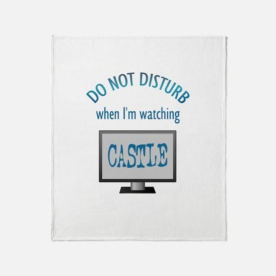 Do Not Disturb Watching Castle Throw Blanket