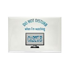 Do Not Disturb Watching Castle Rectangle Magnet