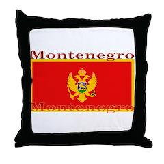 Montenegro Montenegrin Flag Throw Pillow
