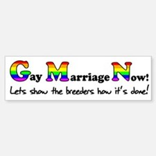 Gay Marriage Now Funny Gay Pr Bumper Bumper Sticker
