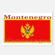Montenegro Montenegrin Flag Postcards (Package of