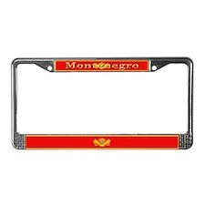 Montenegro Montenegrin Flag License Plate Frame