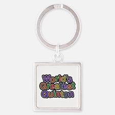 World's Greatest Quinton Square Keychain