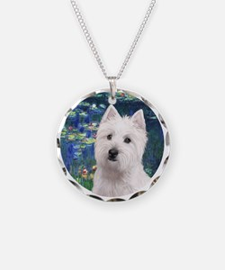 Lilies5-Westie 11b Necklace