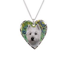 Irises / Westie (P) Necklace