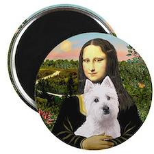 Mona Lisa - Westie 11b Magnet