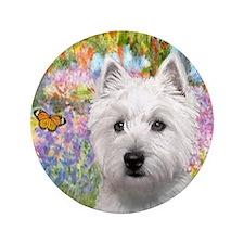 """Garden - Westie (P) 3.5"""" Button"""
